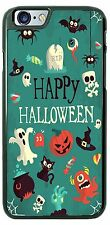 Happy Halloween Collage with Ghost Black Cat Phone Case for iPhone Samsung