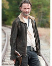 THE WALKING DEAD RICK GRIMES - ANDREW LINCOLN 100% SUEDE LEATHER JACKET