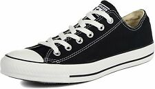 Converse All Star Chuck Taylor Low Top Canvas Black White NIB M9166 Unisex