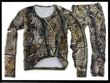 Outdoor Bionic Tactical Camo Hunting Clothes Sniper Ghillie Suit Tshirt Pants