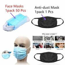 50 X  Disposable Medical Dustproof Surgical Face Mouth Masks Ear Loop New IG