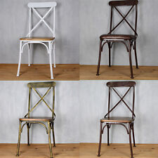 INDUSTRIAL RETRO RUSTIC URBAN FRENCH BISTRO METAL DINING CHAIR SEAT MULTI COLORS