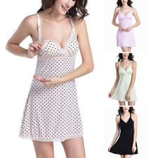 New Maternity Sleepwear Pregnant Women Loose Lace Nursing Nightdress Pajamas