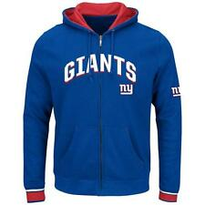 NEW YORK GIANTS HOODIE MAJESTIC ANCHOR POINT FULL ZIP BLUE SWEATSHIRT NWT