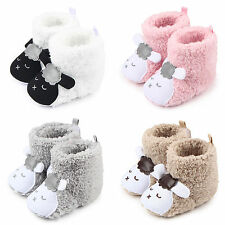 0-12M Baby Boys Girls Warm Boots Prewalkers Toddler Infants Soft Sole Crib Shoes