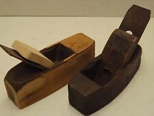 Vintage Wooden Smoothing Plane Antique Woodworking Carpenters Tool ~Plus 1 Other