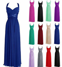 New Long Chiffon Bridesmaid Dress Prom Gowns Formal Evening Dresses Size 6-18 au