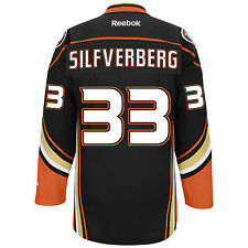 Jakob Silfverberg Anaheim Ducks Reebok Premier Replica Home NHL Hockey Jersey