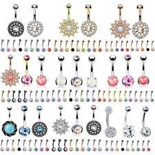12PC Unique Belly Rings Lot Navel Belly Button Ring Set