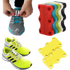 HOT Novelty Sneaker Closure No-Tie Magnetic Casual Shoelace Shoe Buckles New