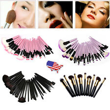 Pro 32pcs MakeUp Cosmetic Makeup Brushes Kit Set with Case Pink/Purple/Black USA