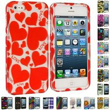 For iPhone 5 5G 5th Colorful Design Hard Snap-On Rubberized Case Skin Cover