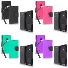 For Nokia Lumia 530 Wallet Flip TPU Cover Case ID Card Slot Holder Accessory