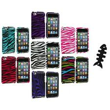 Zebra Design Hard Case Cover Accessory+Cable Wrap for iPod Touch 4th Gen 4G 4