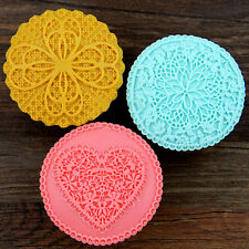 Cup Cake Topper Silicone Mold DIY Fondant Mould Cake Decorating Gum Paste Mat