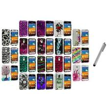 Design Hard Case Cover+Metal Pen for Samsung Epic Touch 4G Sprint Galaxy S2