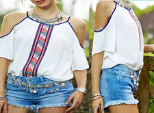 Fashion T-Shirt Chiffon Tops Short Sleeve Blouse Tank New Casual Womens