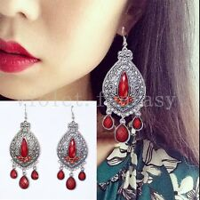 National Jewelry Bohemia Vintage Hollow Carved Drop Earrings Exaggerated
