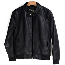 RND Boys Leather Jacket - kids synthetic leather jacket sherpa lining
