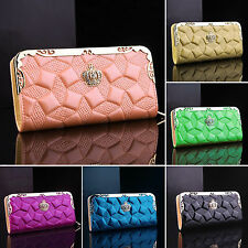 Fashion Women Leather Wallets Zip Purses Handbags Card Holder Ladies Clutch Bags