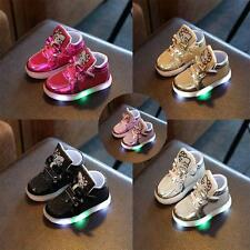 Unisex Kids LED Light Up Shoes Luminous Trainers Sneakers Flashing Baby Girls