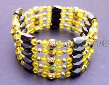 SALE Round 6mm gold Cloisonne Hematite Magnetic Beads Necklace/Bracelet-bra284