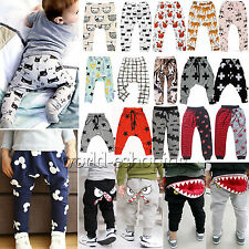 Kids Baby Clothes Boys Girl Harem Pants Leggings Casual Trousers Sweatpants 0-7Y