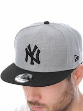 New Era Grey-Black New York Yankees Contrast Heather Snapback Cap