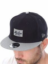 New Era Black-Grey Contrast Heather Patch Snapback Cap