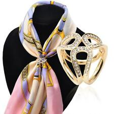Crystal Gold/Silver Trio Scarf Ring Scarf Buckle Scarf Clip Slide Buckle Jewelry