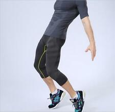 Men Compression Under Base Layer Fitness Sports Armour Tight 3/4 Long Pants MT36