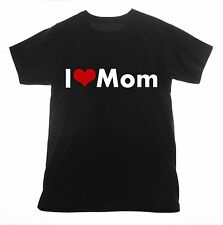 Mom t shirt I love Clothing Tee T-shirt Heart daddy family mother mama mommy dad