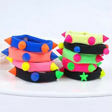 Chic 5/10X Fluorescent Rope Ring Hairband Women Girls Hair Band Ponytail Holder
