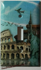 NY Statue of Liberty & Colosseum Light Switch Outlet Cover Plate Home Decor