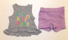 Calvin Klein Infant Girls 2pc Shorts and Tank Top Set Size 12 Months NWT