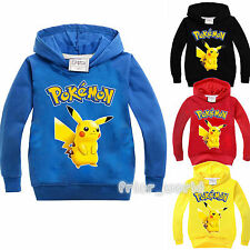 Pokemon Go Pikachu Kids Boys Girls Long Sleeve Sweatshirt Hoodies Outerwear Tops