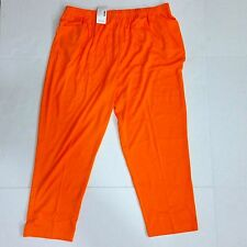 Womens Plus 2X Petite / Short Elastic Stretch Pants Orange LBW KNITS Lane Bryant