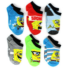 Spongebob Boys 6 pk Ankle Socks 6715QH 4-6 6-8
