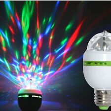 3W E27 RGB Crystal Ball Rotating LED Stage Light Bulbs Party Bulb Disco Lamp