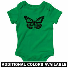 Monarch Butterfly One Piece - Baby Infant Creeper Romper NB-24M - Butterflies