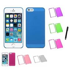 For Apple iPhone 5/5S/SE Crystal Hard Snap-On Transparent Case Cover Stylus Pen