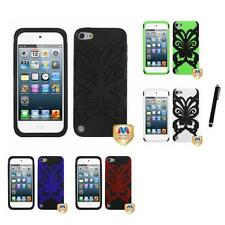 For Apple iPod Touch 5th 6th Gen Butterfly Hybrid IMPACT Armor Case Stylus Pen