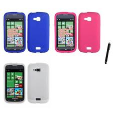 For Samsung ATIV Odyssey Silicone Skin Rubber Soft Case Phone Cover Stylus Pen