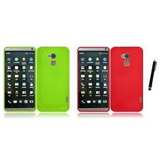 For HTC One Max Rubberized Matte Snap-On Hard Case Phone Cover Stylus Pen