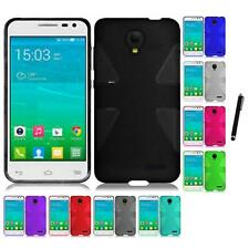 For Alcatel One Touch Pop Star A845L TPU Rubber Flexible Skin Case Stylus Pen