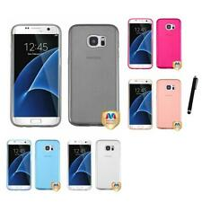 For Samsung Galaxy S7 Edge TPU Spots Rubber Skin Case Phone Cover Stylus Pen