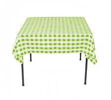 Polyester Checkered Tablecloth Square 72 Inch By Broward Linens (Variety Colors)