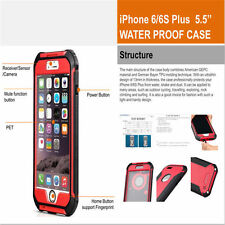 iPhone 6/6s Plus Waterproof Case Full Body Protection Cover shock/dirt proof
