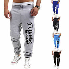 Mens Casual Hiphop Trousers Sweat Pants Jogging Joggers Tracksuit Sports Bottoms
