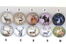 Reindeer Photo Glass Cabochon Picture Cameo Size 25mm Assorted Style